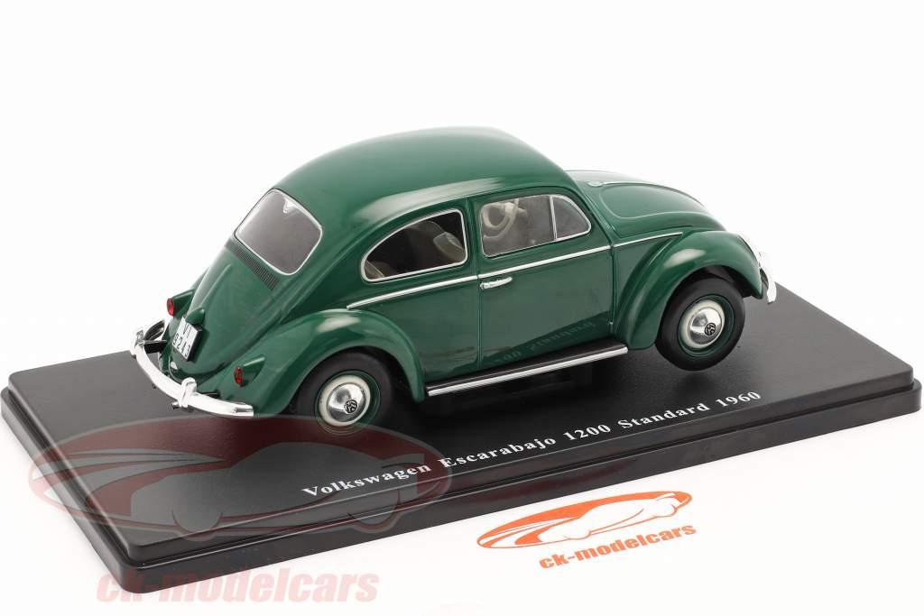 Volkswagen VW Scarabeo 1200 Standard Anno di costruzione 1960 verde 1:24 Altaya