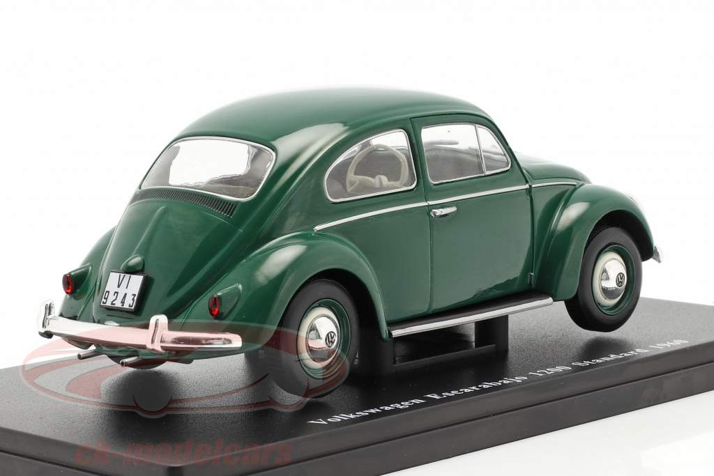 Volkswagen VW Kever 1200 Standard Bouwjaar 1960 groen 1:24 Altaya