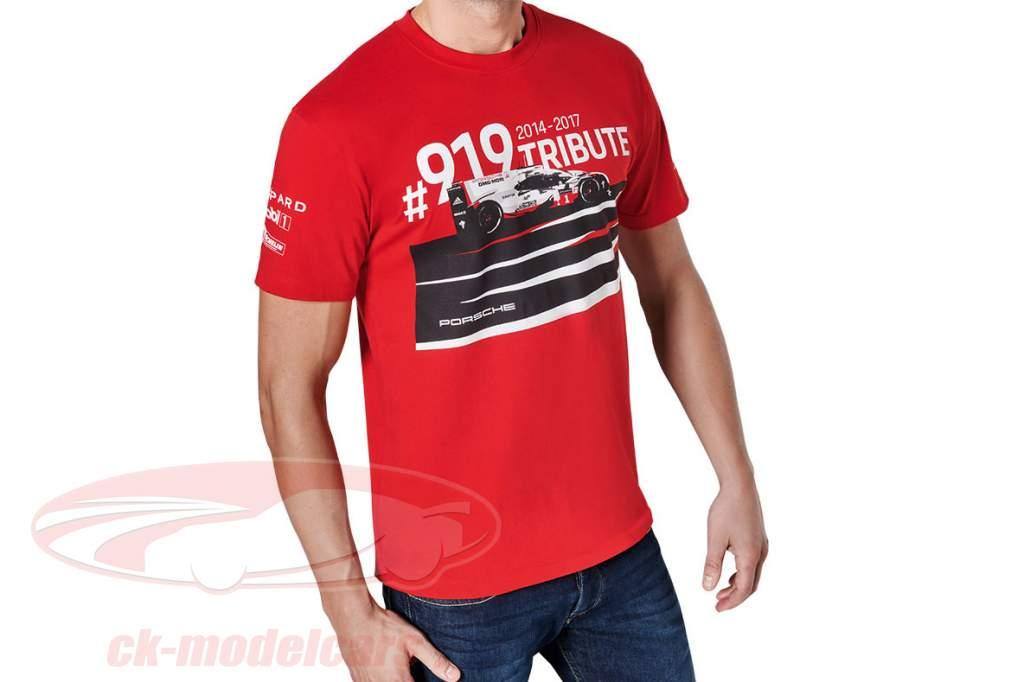 T-Shirt Porsche 919 Tribute rød