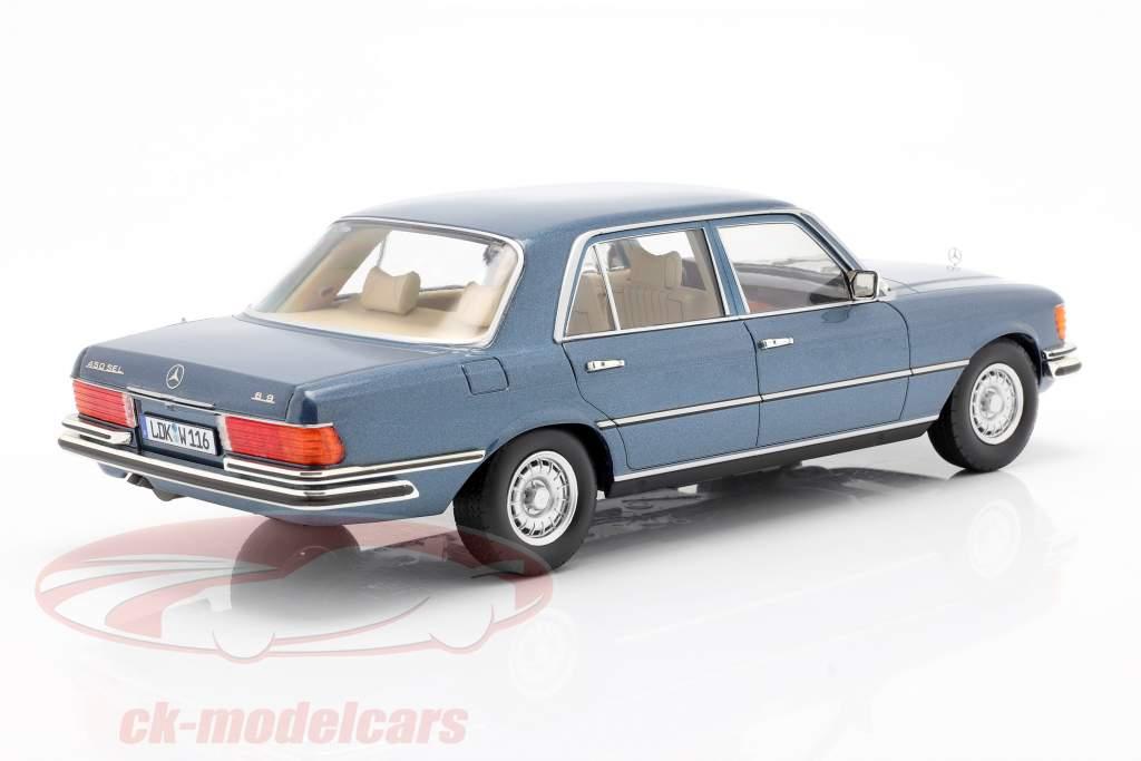 Mercedes-Benz Classe S. 450 SEL 6.9 (W116) 1975-1980 blu metallico 1:18 iScale
