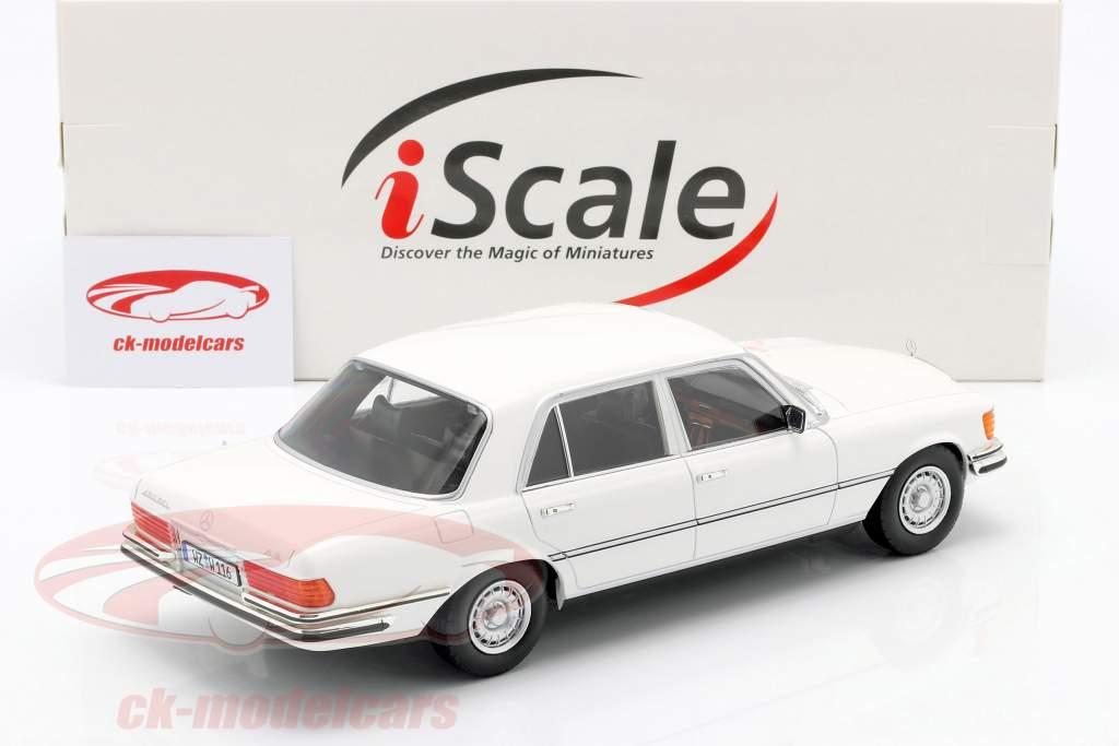 Mercedes-Benz S-klasse 450 SEL 6.9 (W116) 1975-1980 Wit 1:18 iScale