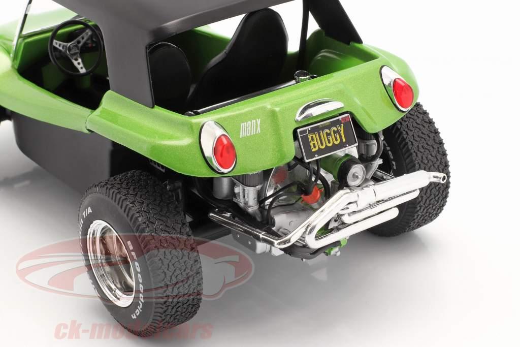 Meyers Manx Buggy com Softtop Ano de construção 1968 verde metálico / preto 1:18 Solido