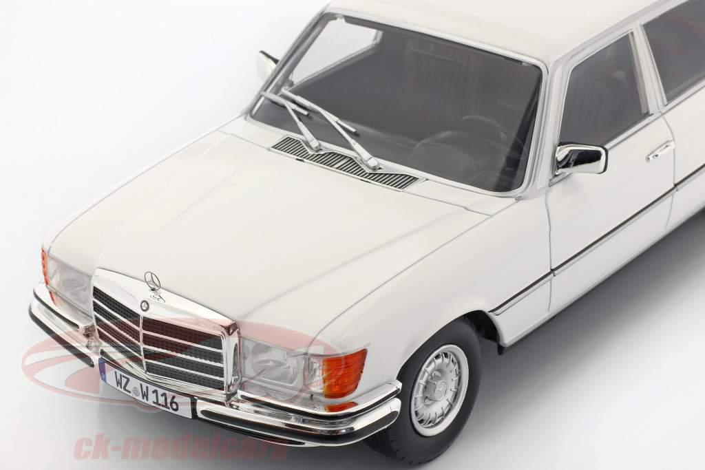 Mercedes-Benz Clase S 450 SEL 6.9 (W116) 1975-1980 blanco 1:18 iScale