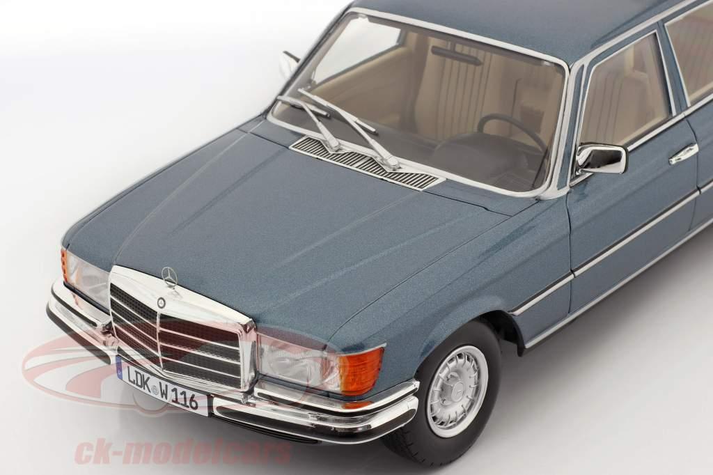 Mercedes-Benz S-klasse 450 SEL 6.9 (W116) 1975-1980 blauw metalen 1:18 iScale
