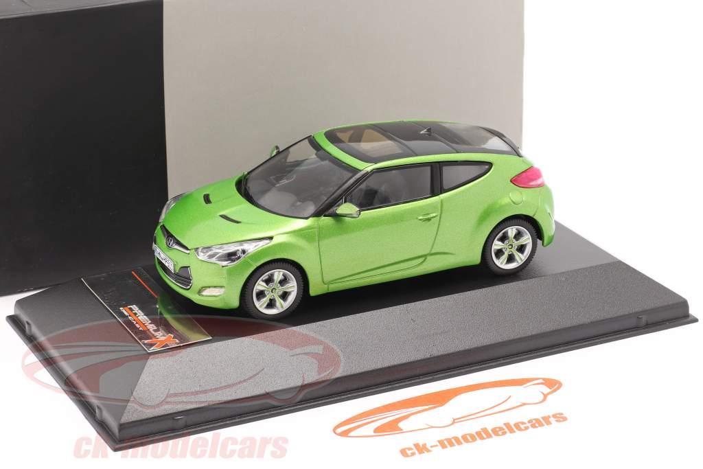 Hyundai Veloster Baujahr 2012 grün metallic 1:43 Premium X