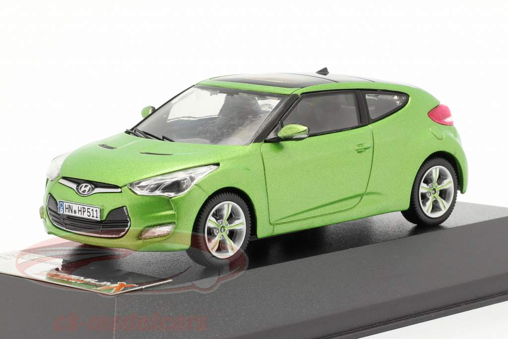 Hyundai Veloster ano 2012 verde metálico 1:43 Premium X