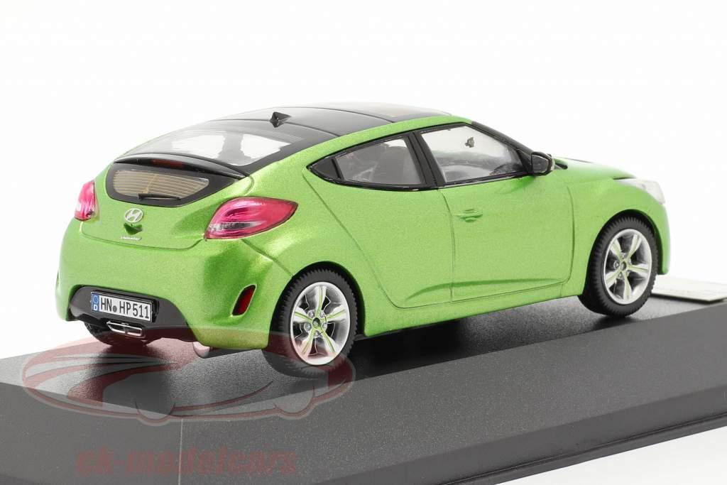 Hyundai Veloster jaar 2012 groen metalen 1:43 Premium X