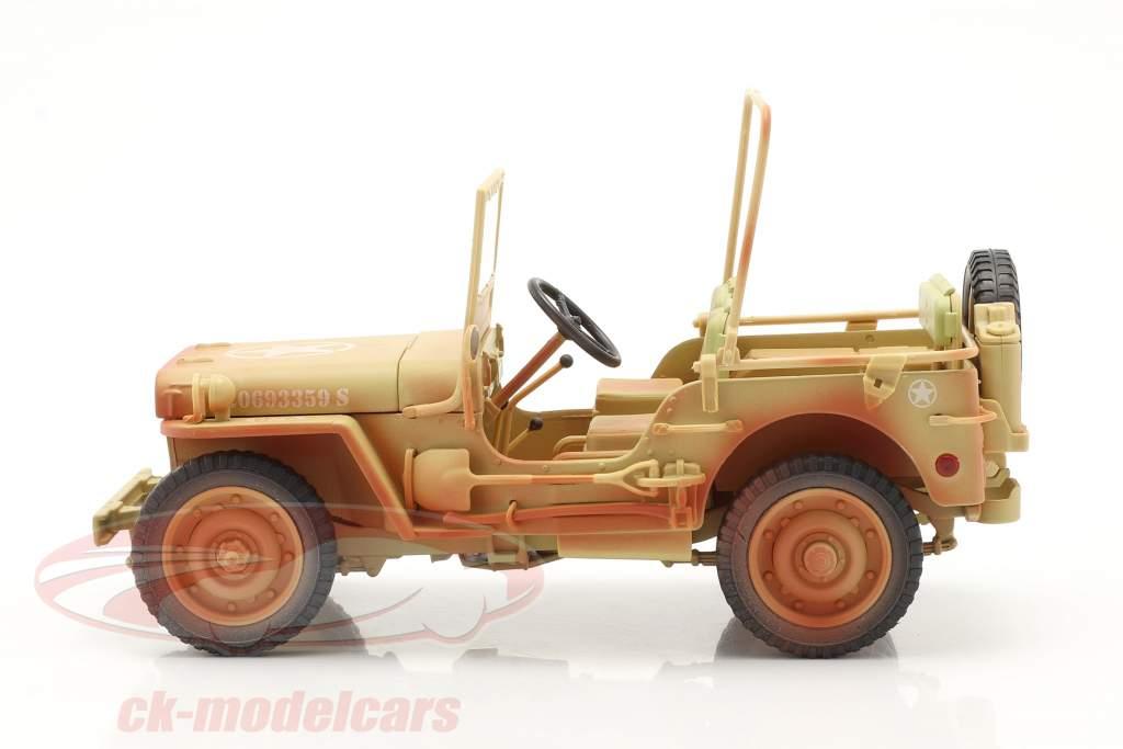 Jeep Willy's Casablanca Dirty Version Year 1943 desert sand 1:18 Triple9