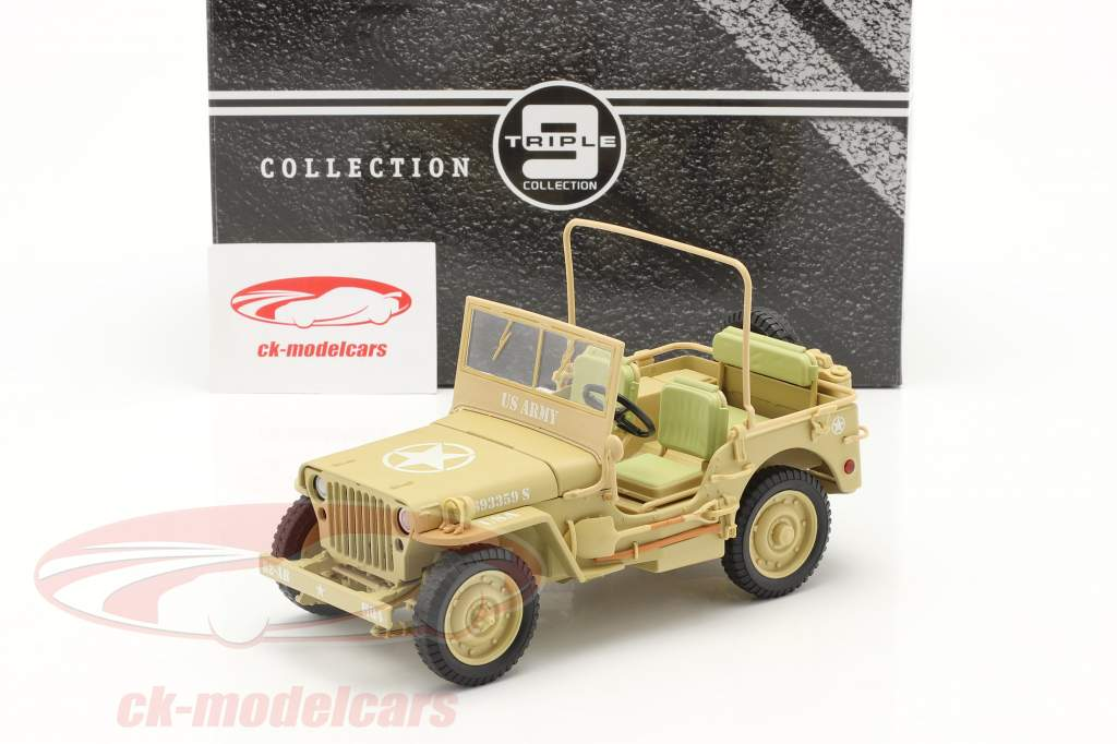Jeep Willy's Casablanca année 1943 désert sable 1:18 Triple9