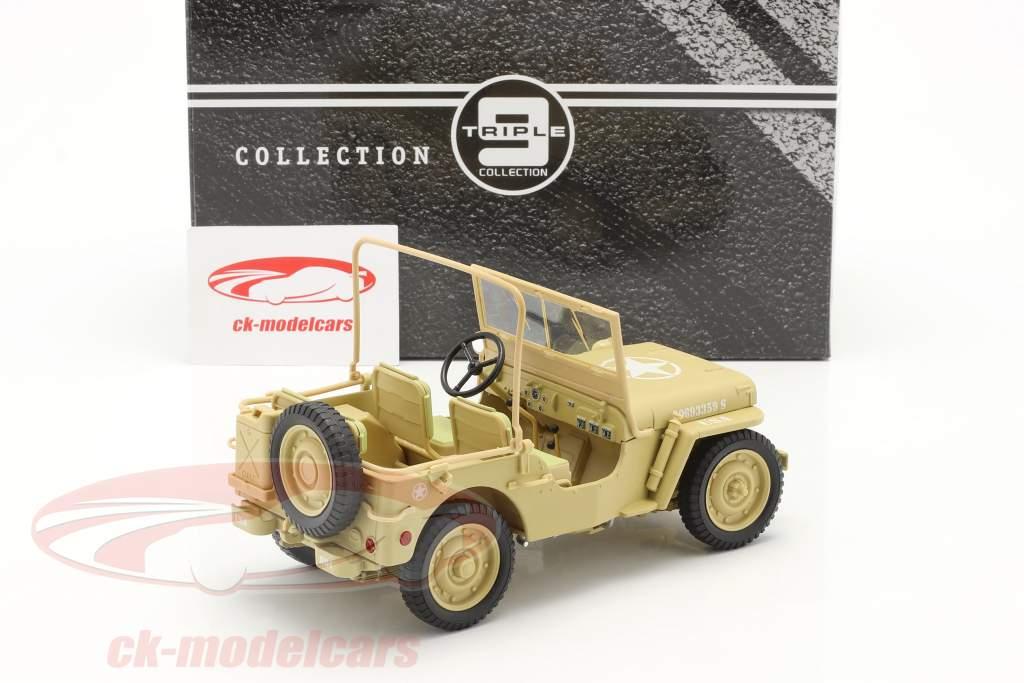 Jeep Willy's Casablanca año 1943 desierto arena 1:18 Triple9