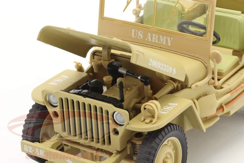 Jeep Willy's Casablanca ano 1943 deserto areia 1:18 Triple9