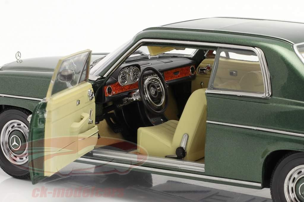 Mercedes-Benz Strich 8 280C Coupe År 1968 grøn 1:18 SunStar