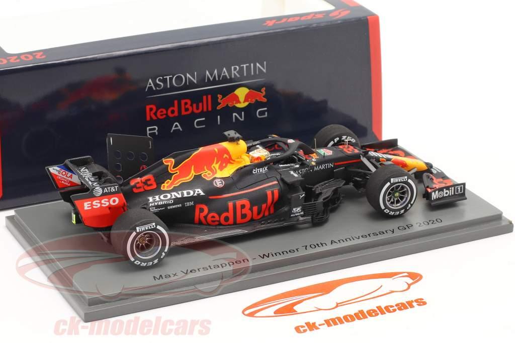 M. Verstappen Red Bull Racing RB16 #33 Gagnant 70e Anniversary GP F1 2020 1:43 Spark