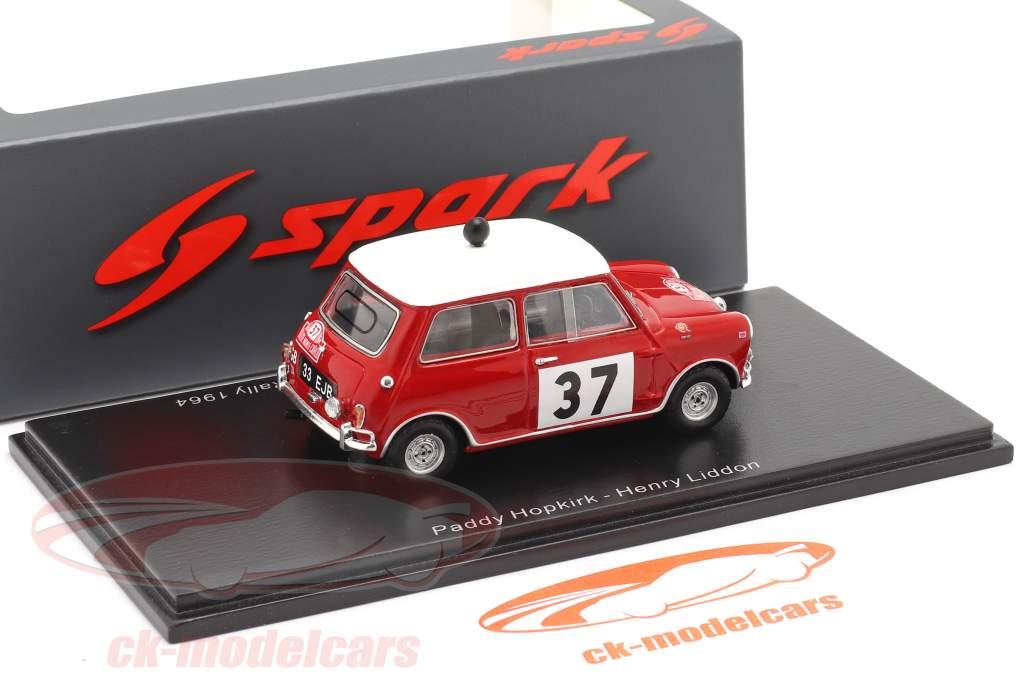 Morris Cooper S #37 Winner Rallye Monte Carlo 1964 Hopkirk, Liddon 1:43 Spark