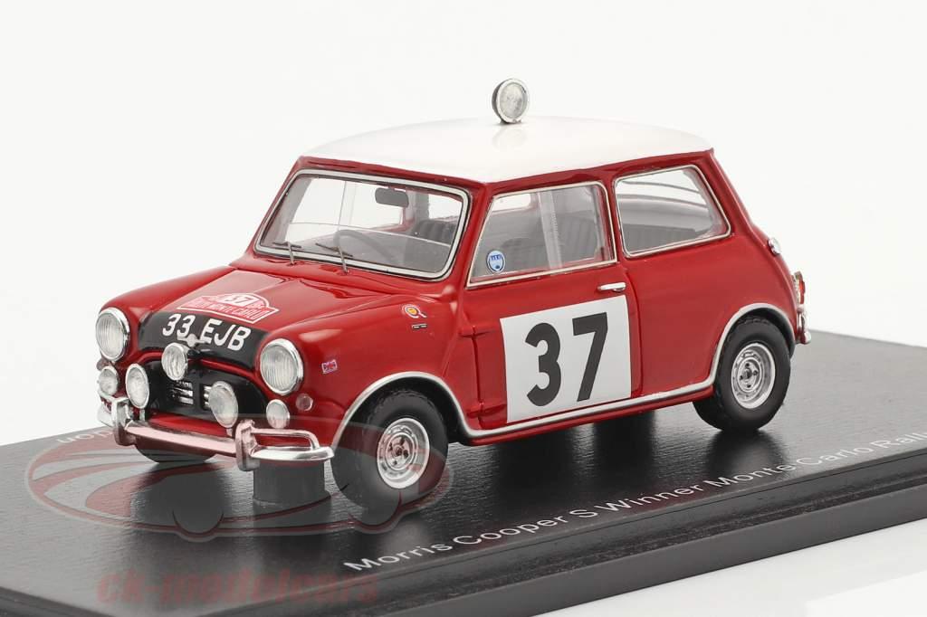 Morris Cooper S #37 ganador Rallye Monte Carlo 1964 Hopkirk, Liddon 1:43 Spark