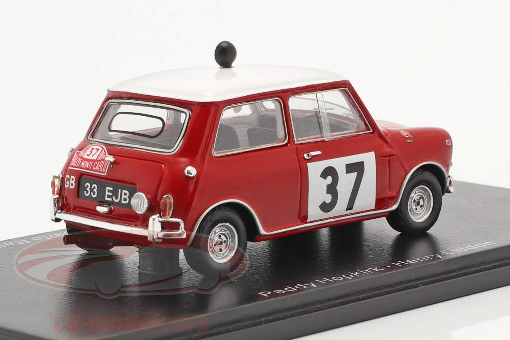 Morris Cooper S #37 vinder Rallye Monte Carlo 1964 Hopkirk, Liddon 1:43 Spark