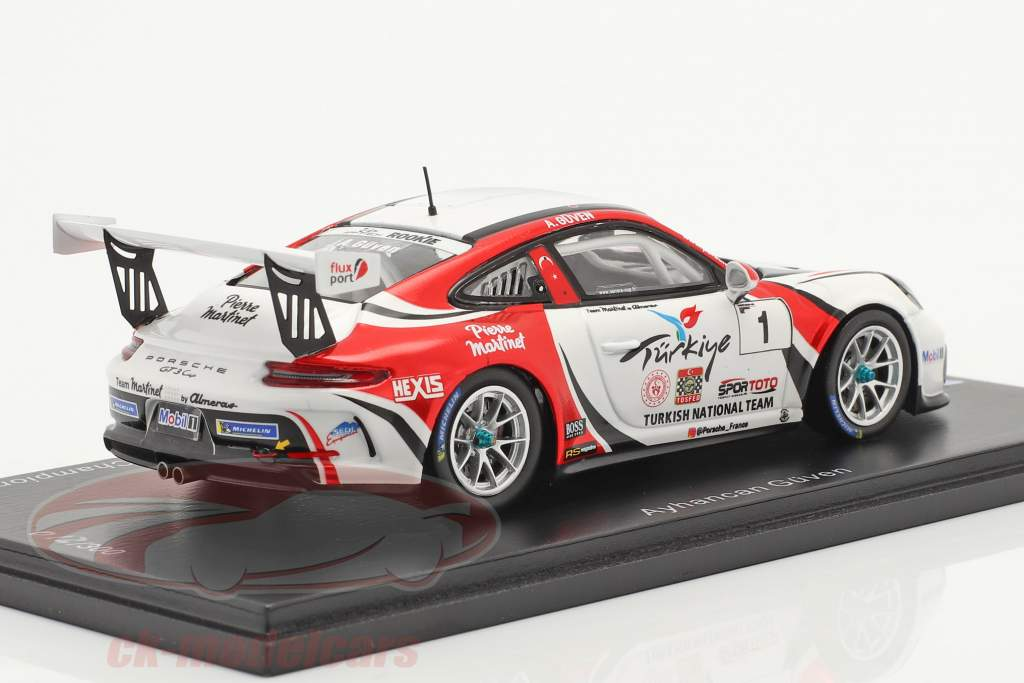 Porsche 911 GT3 Cup #1 campeão Porsche Carrera Cup França 2019 1:43 Spark