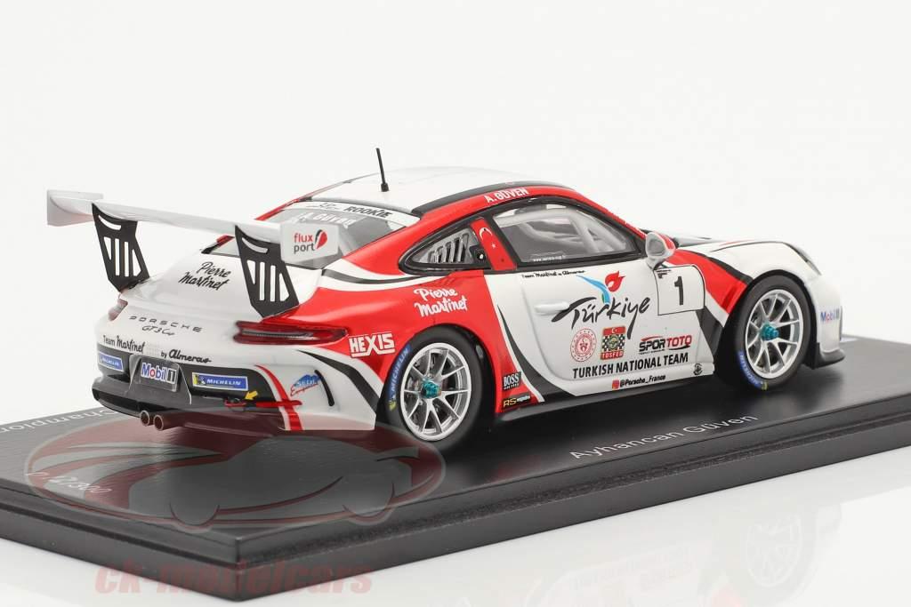 Porsche 911 GT3 Cup #1 champion Porsche Carrera Cup France 2019 1:43 Spark