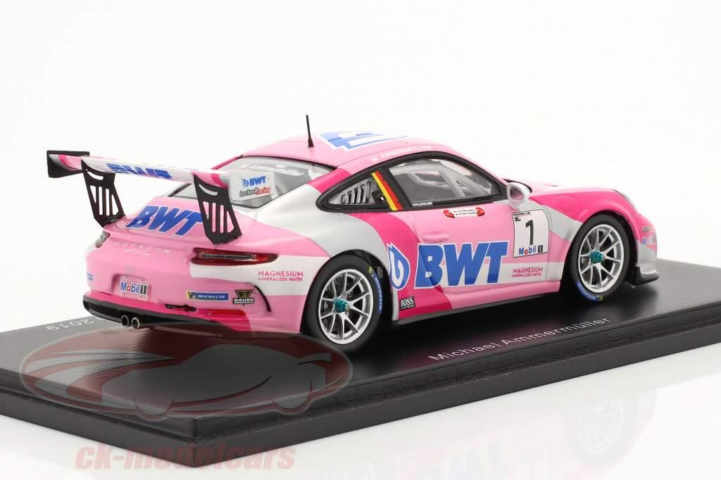 Porsche 911 GT3 Cup #1 Porsche Supercup champion 2019 M. Ammermüller 1:43 Spark