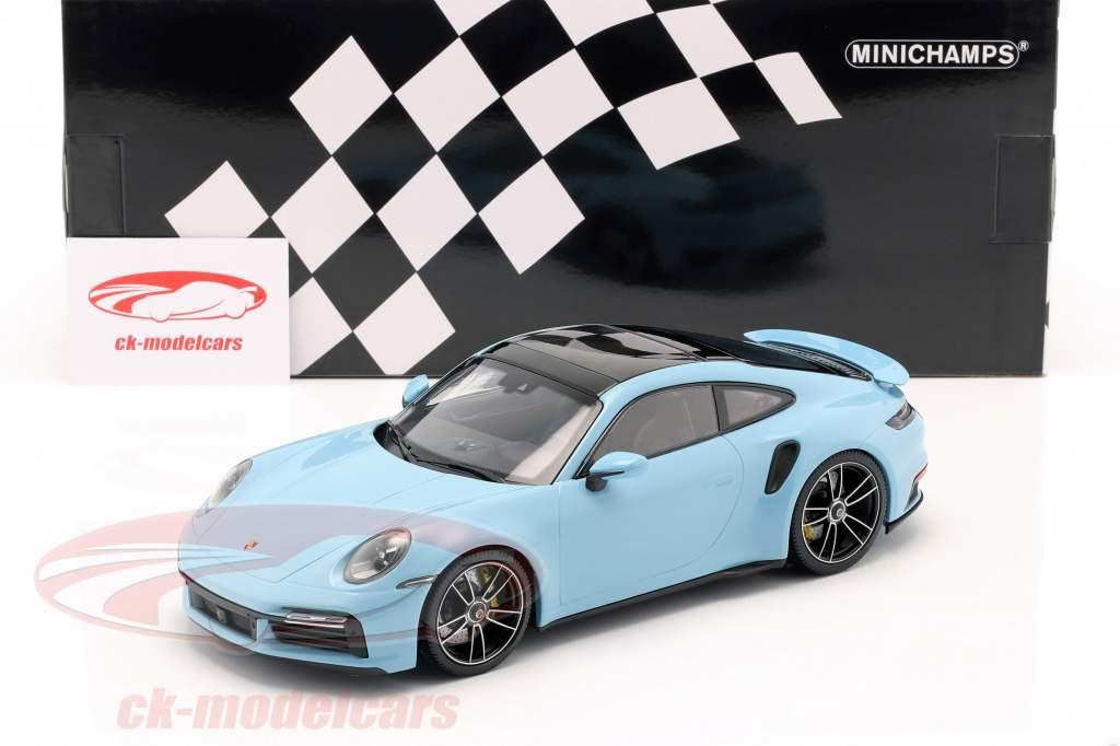 Porsche 911 (992) Turbo S year 2020 gulf blue 1:18 Minichamps