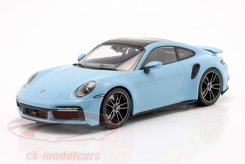 Porsche 911 (992) Turbo S Année de construction 2020 gulf bleu 1:18 Minichamps