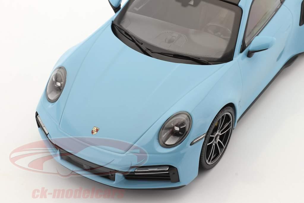 Porsche 911 (992) Turbo S 建設年 2020 gulf 青い 1:18 Minichamps