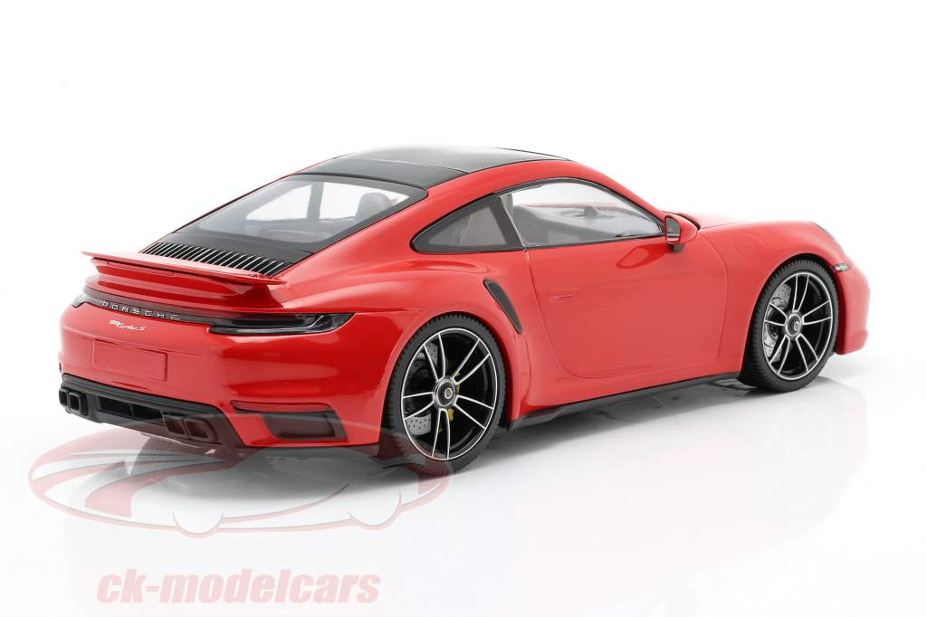 Porsche 911 (992) Turbo S year 2020 guards red 1:18 Minichamps