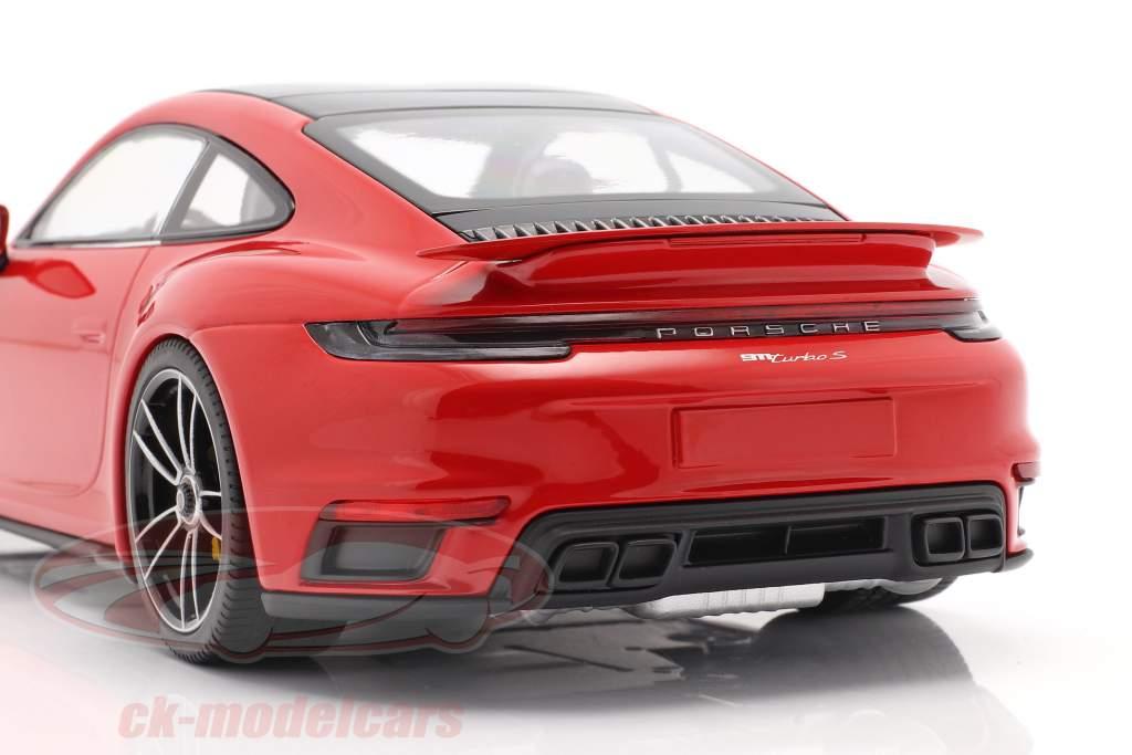 Porsche 911 (992) Turbo S Bouwjaar 2020 bewakers rood 1:18 Minichamps