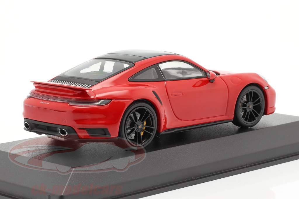 Porsche 911 (992) Turbo S 2020 guardias rojo / negro llantas 1:43 Minichamps