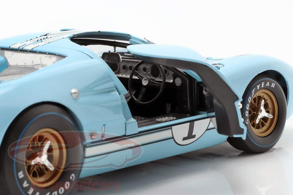 24h LeMans 1966Collector's Set: Bestil Med Ford GT40 #1 #2 1:18 Shelby Collectibles