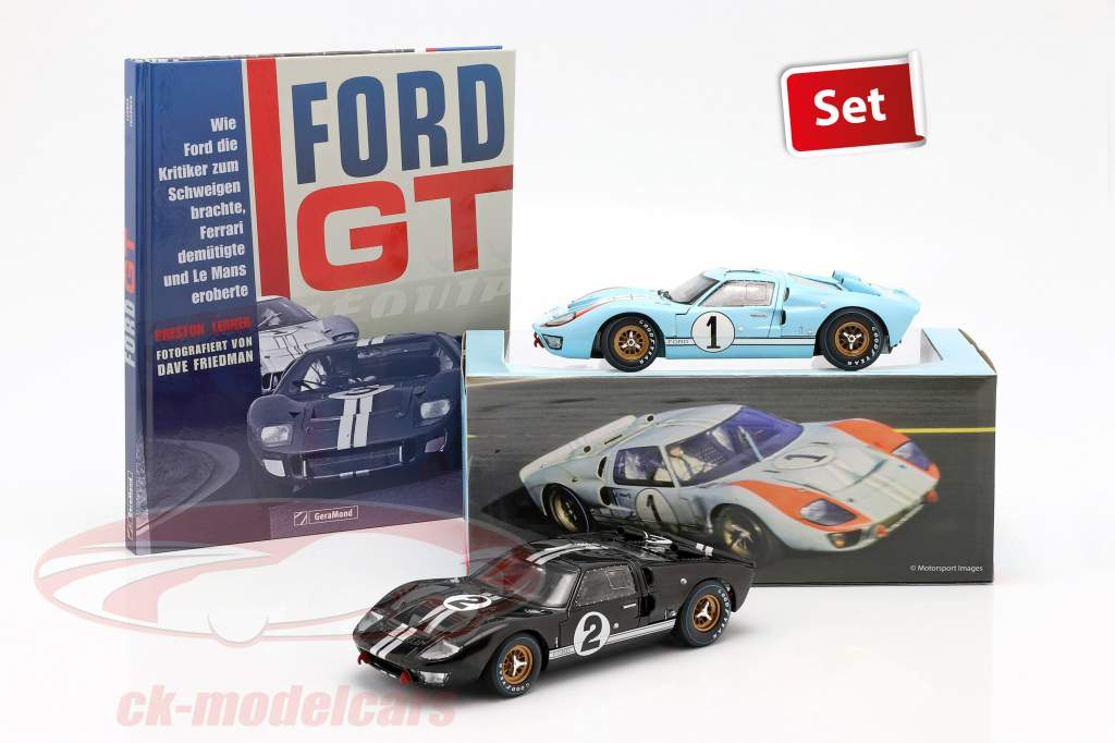 24h LeMans 1966Collector's Set: Bestil Med Ford GT40 #1 #2 1:18 Shelby Collectibles