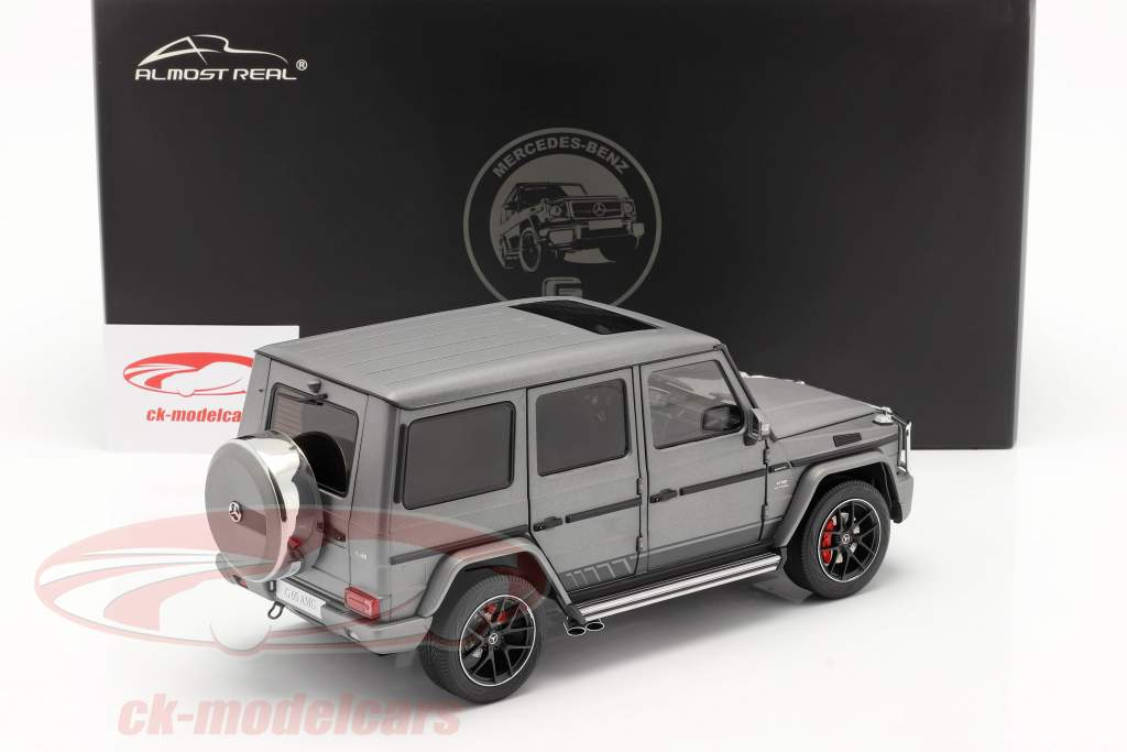 Mercedes-Benz AMG G-class (W463) 2017 grey metallic 1:18 Almost Real