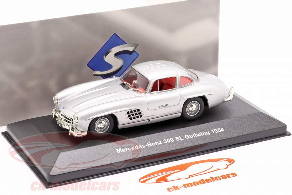 Mercedes-Benz 300 SL (W198) Gullwing Année de construction 1954 argent métallique 1:43 Solido