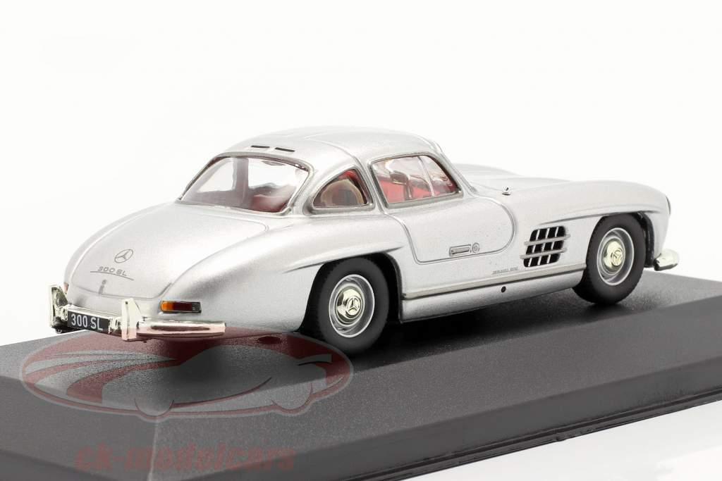 Mercedes-Benz 300 SL (W198) Gullwing year 1954 silver metallic 1:43 Solido