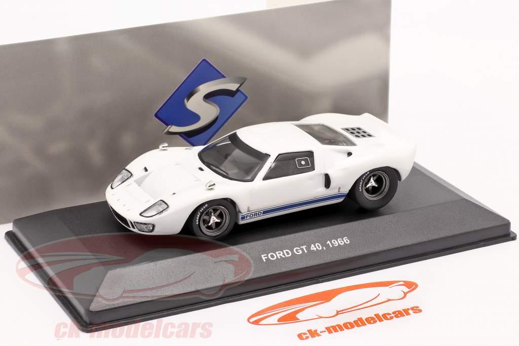 Ford GT40 Año de construcción 1966 blanco 1:43 Solido