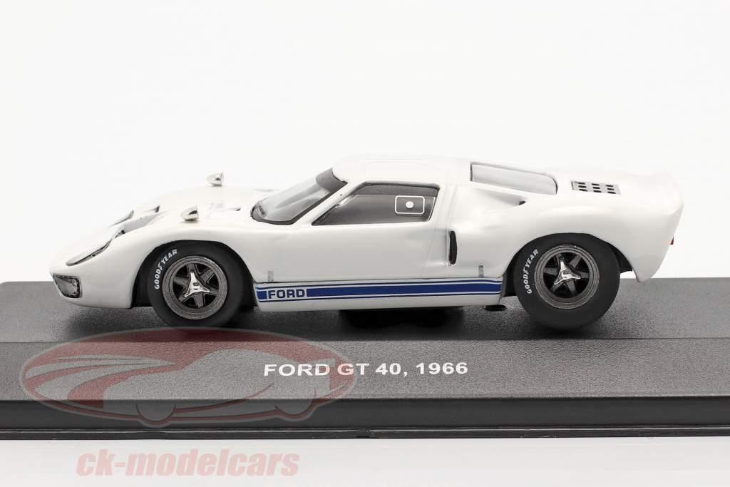 Ford GT40 Byggeår 1966 hvid 1:43 Solido