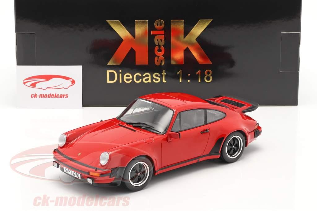 Porsche 911 (930) Turbo 3.0 Byggeår 1976 Indisk rød 1:18 KK-Scale