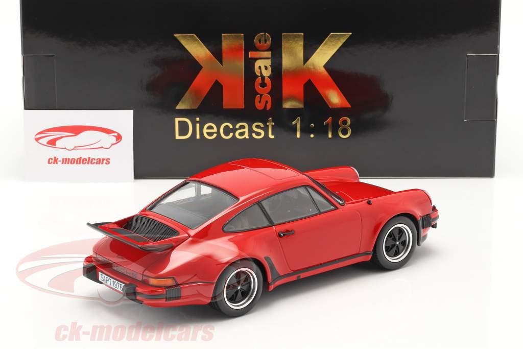 Porsche 911 (930) Turbo 3.0 Année 1976 Indien rouge 1:18 KK-Scale