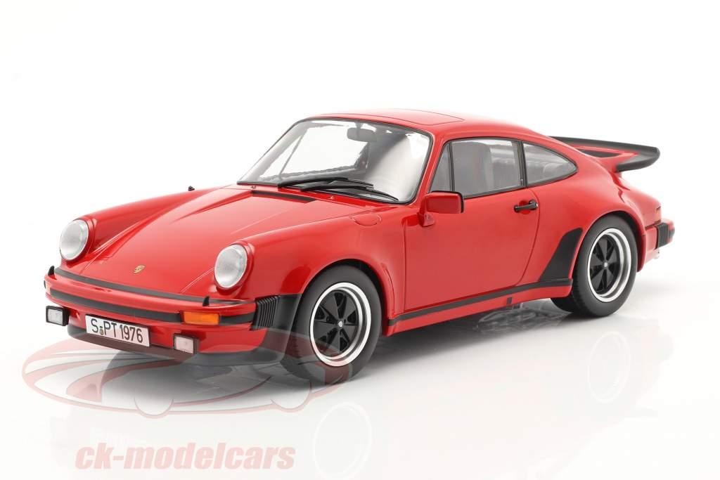 Porsche 911 (930) Turbo 3.0 Bouwjaar 1976 Indisch rood 1:18 KK-Scale