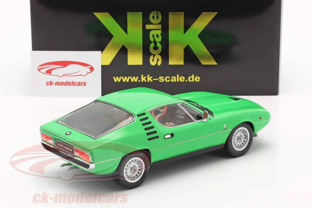 Alfa Romeo Montreal year 1970 green 1:18 KK-Scale