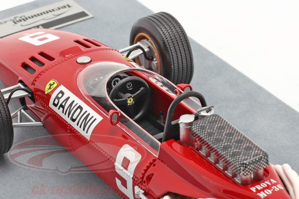 Lorenzo Bandini Ferrari 312/66 #9 Allemand GP formule 1 1966 1:18 Tecnomodel