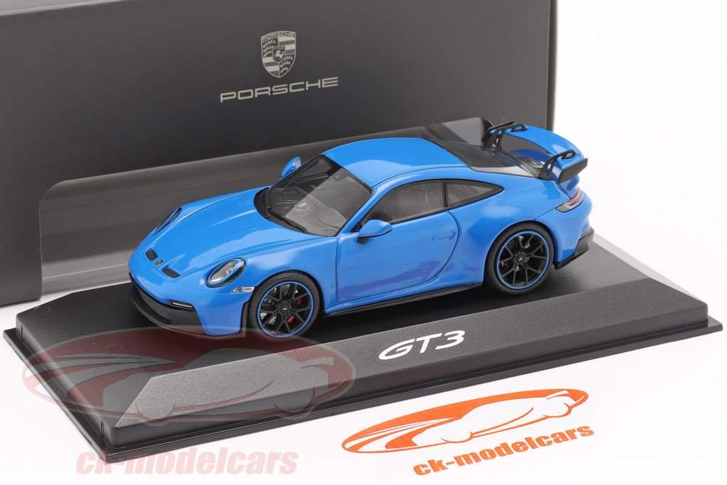 Porsche 911 (992) GT3 Byggeår 2021 shark blue 1:43 Minichamps