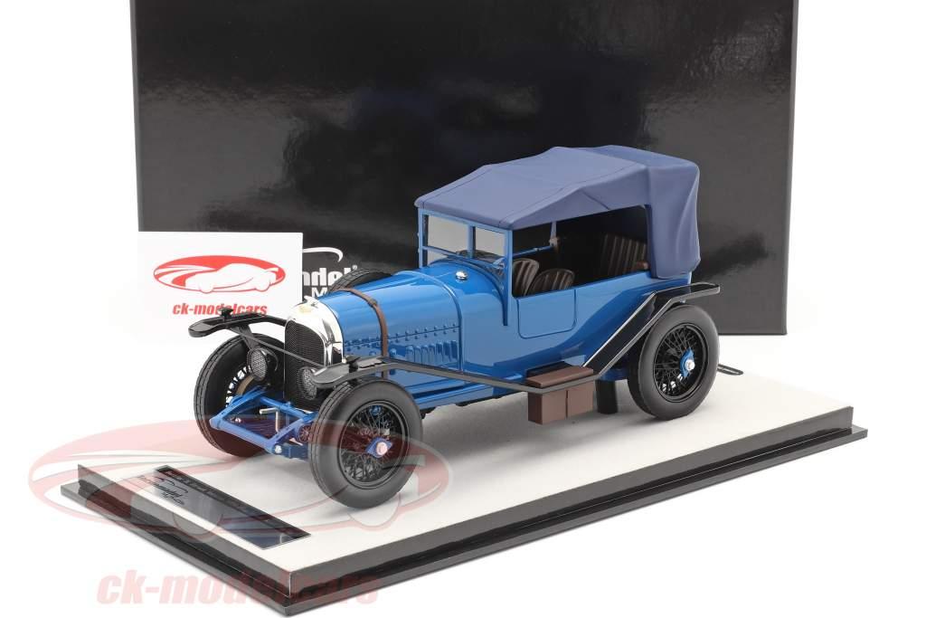 Bentley 3L Version rue fermé Année de construction 1924 bleu 1:18 Tecnomodel