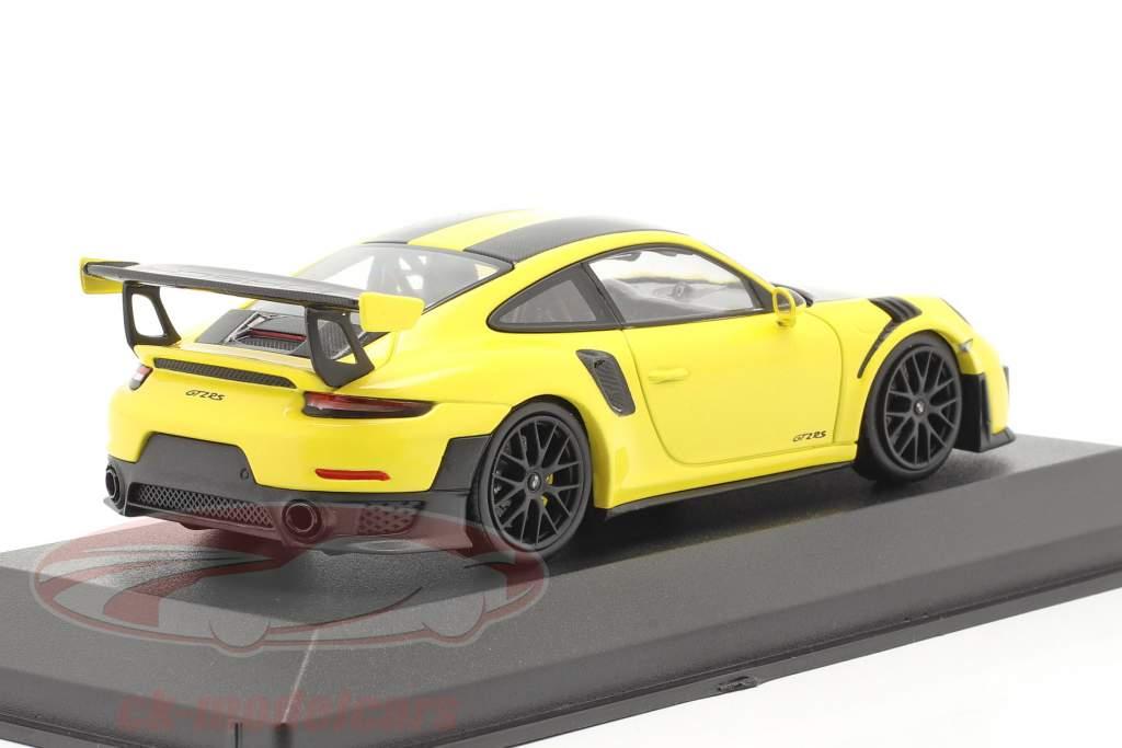 Porsche 911 (991 II) GT2 RS Weissach paquete 2018 racing amarillo / negro llantas 1:43 Minichamps