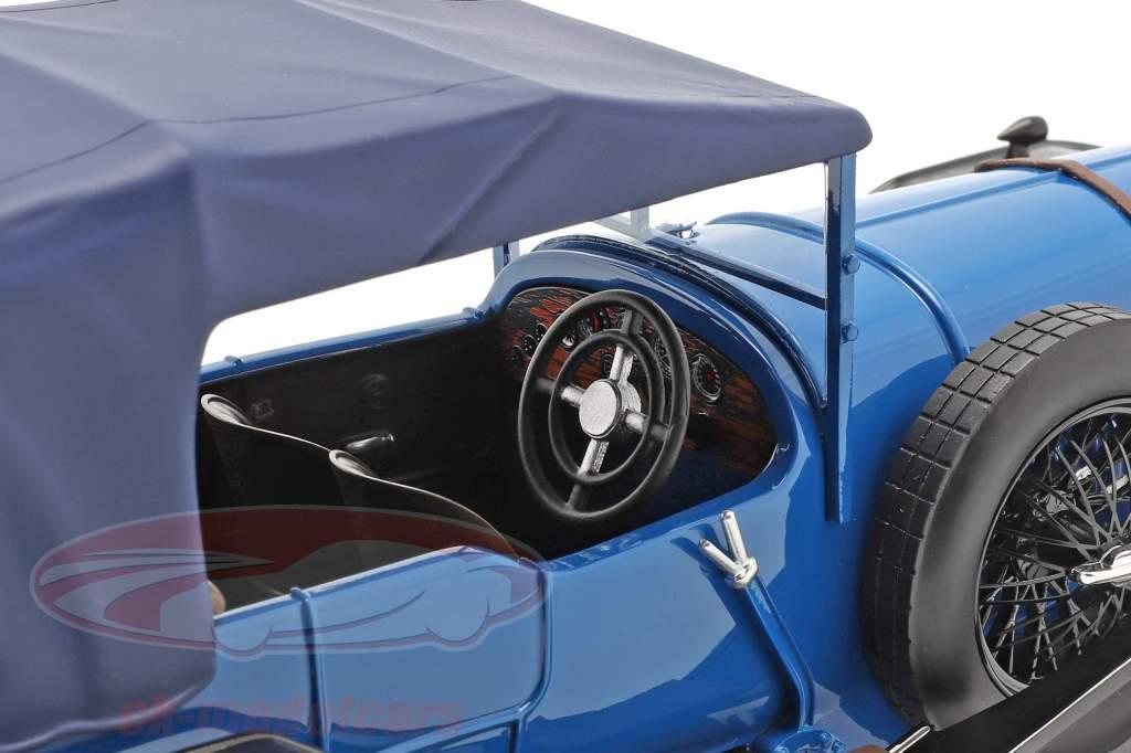Bentley 3L Street-versie Gesloten Bouwjaar 1924 blauw 1:18 Tecnomodel