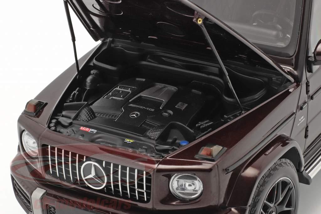 Mercedes-Benz AMG G63 Año de construcción 2018 oscuro rojo metálico 1:18 Minichamps