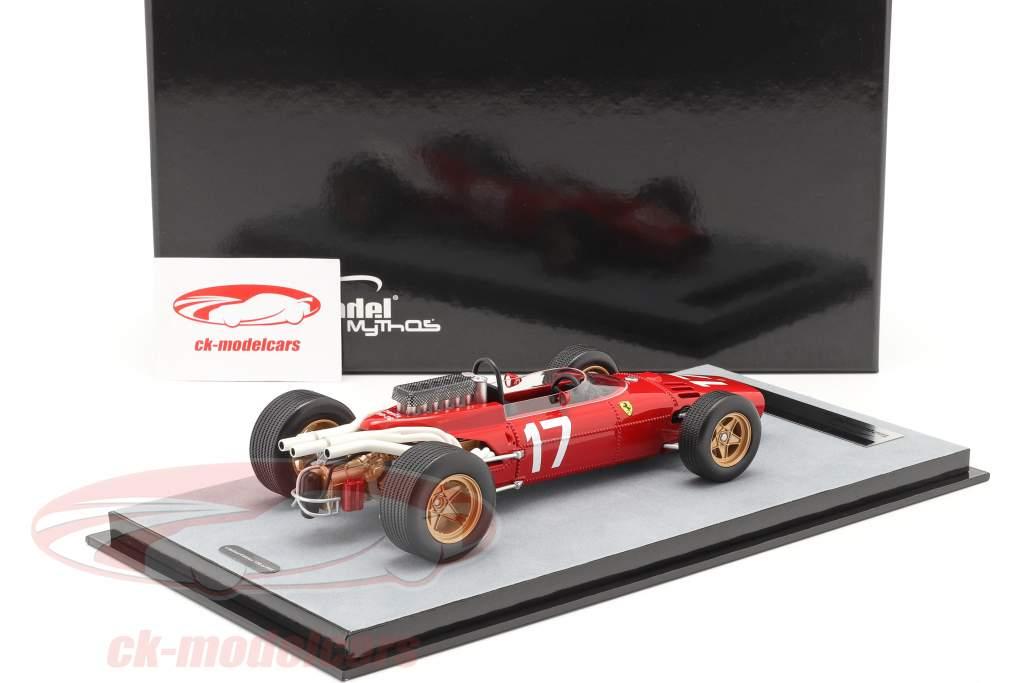 John Surtees Ferrari 312/66 #17 Monaco GP formule 1 1966 1:18 Tecnomodel