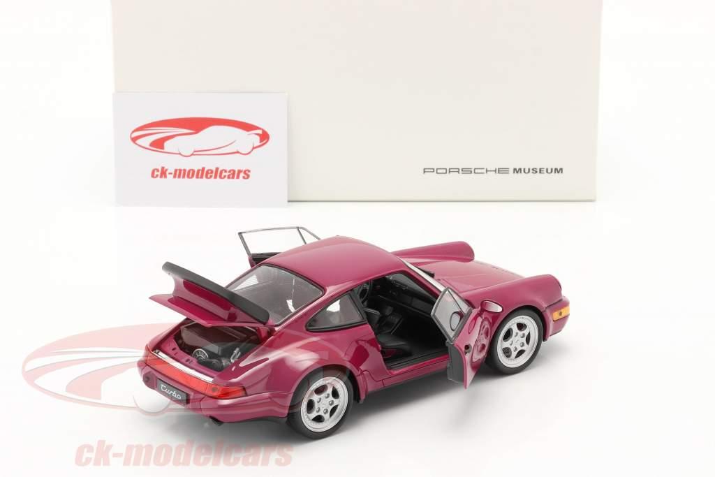 Porsche 911 (964) Turbo año 1990 rosa oscuro 1:24 Welly