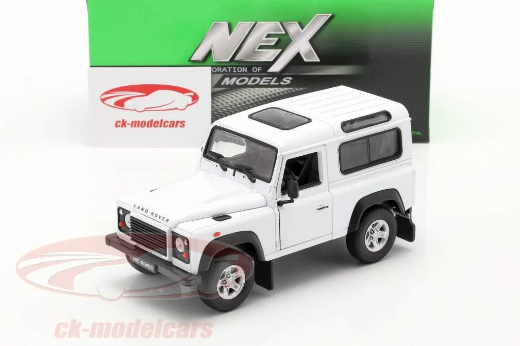 Land Rover Defender branco 1:24 Welly