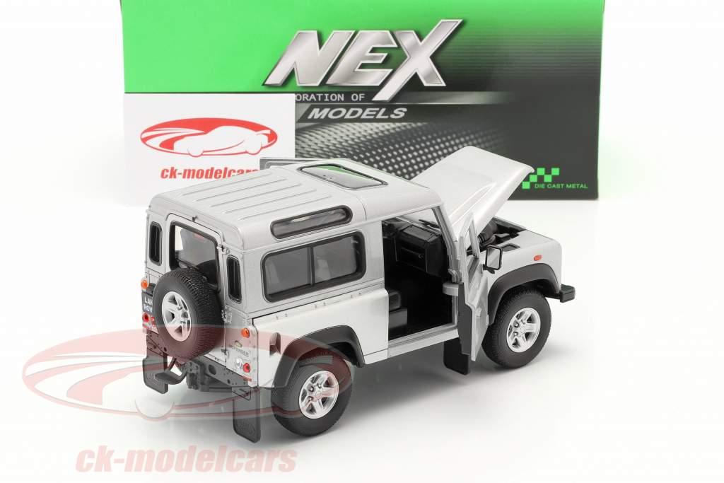 Land Rover Defender sølv 1:24 Welly